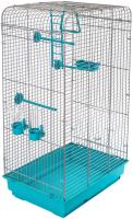 Клетка для птиц ЕСО Тоша / 4057бирюз-хром -