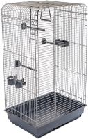 Клетка для птиц ЕСО Тоша / 4057сер-хром -