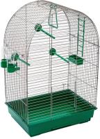 Клетка для птиц ЕСО Кеша / 4056изум-хром -