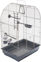 Клетка для птиц ЕСО Кеша / 4056сер-хром -