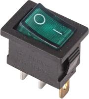 Выключатель клавишный Rexant ON-OFF 36-2153 (зеленый) -