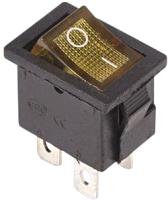 Выключатель клавишный Rexant ON-OFF 36-2192 (желтый) -