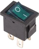 Выключатель клавишный Rexant ON-OFF 36-2193 (зеленый) -