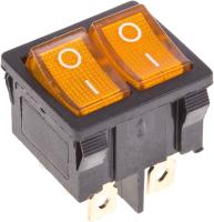 Выключатель клавишный Rexant ON-OFF 36-2162 (желтый) -