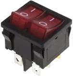 Выключатель клавишный Rexant ON-OFF 36-2160 (красный) -