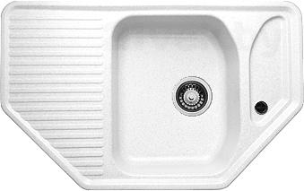 Купить Мойка кухонная Granicom, G002-08 (жасмин), Россия, искусственный мрамор