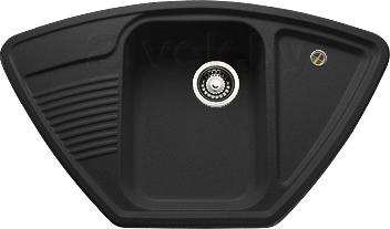 Купить Мойка кухонная Granicom, G008-01 (антрацит), Россия, искусственный мрамор