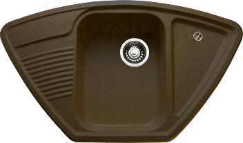 Купить Мойка кухонная Granicom, G008-02 (шоколад), Россия, искусственный мрамор