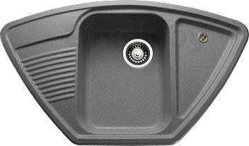 Купить Мойка кухонная Granicom, G008-04 (серый), Россия, искусственный мрамор