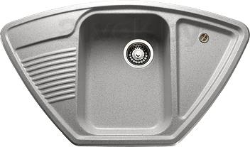 Купить Мойка кухонная Granicom, G008-05 (серебристый), Россия, искусственный мрамор
