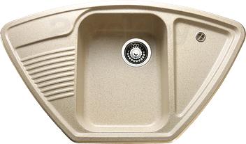 Купить Мойка кухонная Granicom, G008-07 (сахара), Россия, искусственный мрамор