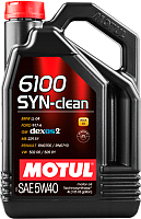 Моторное масло Motul 6100 Syn-clean 5W40 / 107942 (4л) -