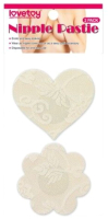 Набор пэстисов LoveToy Lace Heart and Flower Nipple Pasties / LV763006 -