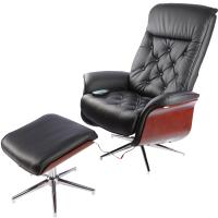 Массажное кресло Calviano 95 с пуфом (черный) -