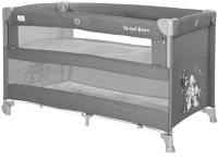 Кровать-манеж Lorelli Cot Up and Down Grey Rabbits / 10080062139 -