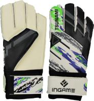 Перчатки вратарские Ingame Tsunami IT-602 (р.9, черный/белый/синий) -