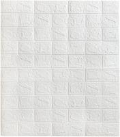 Панель ПВХ листовая Grace Самоклеющаяся Кирпич белый (700x770мм) -