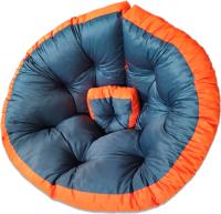 Бескаркасное кресло-трансформер Angellini 9с0013тр (L, серый/оранжевый) -