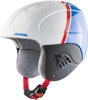 Шлем горнолыжный Alpina Sports 2021-22 Carat / A9035-77 (р-р 51-55, белый/красный/синий) -