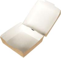 Набор коробок упаковочных для еды Krafteco Eco Burger M (50шт) -