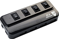USB-хаб Jet.A JA-UH15 (черный) -