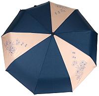 Зонт складной Капялюш 17С3-00618 (синий/бежевый) -
