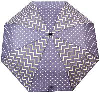 Зонт складной Капелюш 1430 (серый/фиолетовый) -