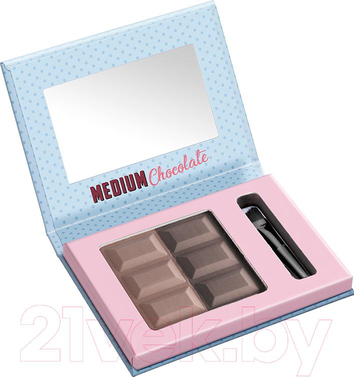 Купить Тени для бровей Misslyn, Brow Duo Eyebrow Powder 374.4 (5г), Германия, брюнет/шатен (коричневый)