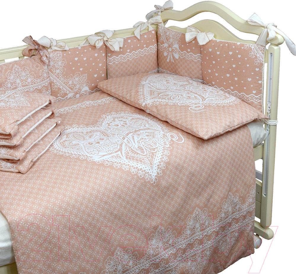 Комплект в кроватку L'Abeille, Амур Ажур 4 (бязь), Россия, Амур Ажур (L'Abeille)  - купить со скидкой