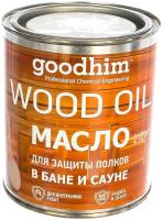 Масло для древесины GoodHim Для защиты полков в бане и сауне (металл, 750мл) -