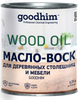 Масло для древесины GoodHim Для деревянных столешниц и мебели (бесцветный, 750мл) -