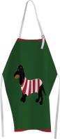 Кухонный фартук JoyArty Такса в полосатой футболке / ap-53896 -