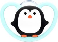 Пустышка NUK Ортодонтической формы / 10736322 (пингвин, силикон, р.2) -
