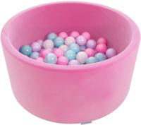 Сухой бассейн Romana Airpool Easy ДМФ-МК-02.53.03 (розовый, 150 шариков ассорти с розовым) -