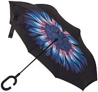 Зонт-трость Ame Yoke L59 (разноцветный цветок/черный) -