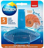 Чистящее средство для унитаза Sano Sanobon Blue Peach (55г) -