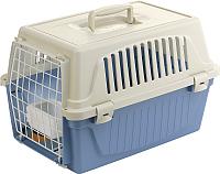 Переноска для животных Ferplast Atlas 10 / 73007899 (голубой, с ковриком и поилкой) -
