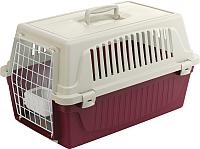 Переноска для животных Ferplast Atlas 20 / 73008899 (фиолетовый, с ковриком и поилкой) -