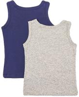 Комплект маек детских Mark Formelle 423304-2 (р.98-52, серый меланж/темно-синий) -