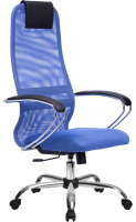 Кресло офисное Metta SU-BK-8 CH (синий/синий) -