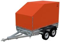 Прицеп для автомобиля Экспедиция Универсал 121320 Евро (R13, 3250х1500х300, тент/каркас 320-1300, двухосный, оранжевый) -