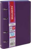 Тетрадь Brauberg Joy / 129989 (120л, фиолетовый/светло-фиолетовый) -