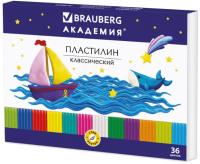 Пластилин Brauberg Академия / 105901 (36цв) -