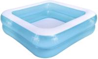 Надувной бассейн Jilong Mosaic Square 2-Ring Pool / 51005 (145x145x45) -