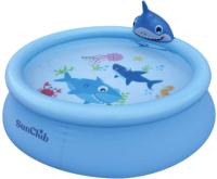 Надувной бассейн Jilong Shark 3D Spray Pool / 17822 (190x47) -