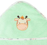 Полотенце с капюшоном Alis Зверята new (салатовый) -