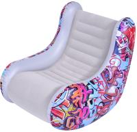 Надувное кресло Jilong Flocker Armchair 94х76х76 / 22320 (светло-серый) -