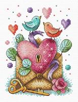 Набор для вышивания М.П.Студия День влюбленных / 6891373 -