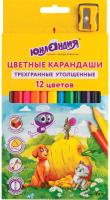 Набор цветных карандашей Юнландия Сказочный мир / 181370 (12цв) -