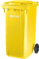 Контейнер для мусора Ese 120л (желтый) -